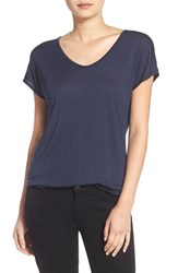 Trouve Women's Trouve Relaxed Fit Shirttail Tee Navy Sapphire
