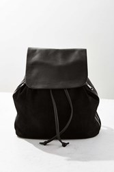 Urban Outfitters Clean Suede Backpack Black