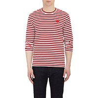 Comme Des Garcons Play Men's Heart Patch Long Sleeve T Shirt Red