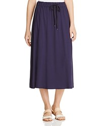 Eileen Fisher Drawstring Midi Skirt Midnight