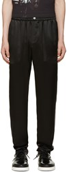 Dolce And Gabbana Black Silk Pyjama Trousers