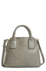 Sole Society Amalia Studded Dome Faux Leather Satchel Grey
