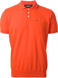 Dsquared2 Classic Polo Shirt Yellow And Orange