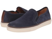 Frye Gates Slip On Indigo Sunwash Nubuck Men's Slip On Shoes Black