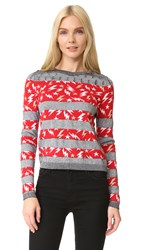 Just Cavalli Lightning Stripe Sweater Blue Navy Jacquard