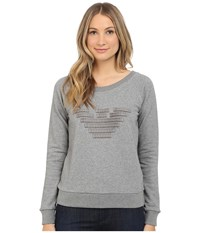 Armani Jeans Giorgio Armani Grosgrain Eagle Sweatshirt Heather Grey