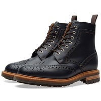 Commando Sole Brogue Boot Navy Waxy