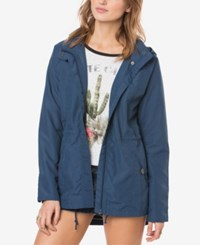 O'neill Juniors' Wendy Hooded Utility Jacket Insignia Blue