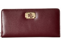 Lauren Ralph Lauren Newbury Lrl Snap Continental Wallet Claret Wallet Handbags Red