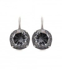 Bottega Veneta Crystal Earrings Grey