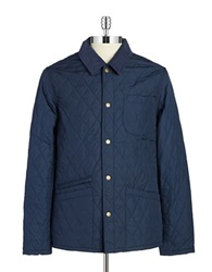 Brooks Brothers Red Fleece Quilted Jacket Navy