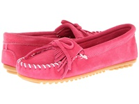 Minnetonka Kilty Suede Moc Hot Pink Suede Women's Moccasin Shoes