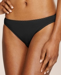 Charter Club Pretty Cotton Bikini Black