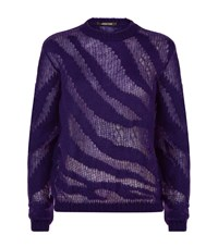 Roberto Cavalli Loose Knit Jumper Female Purple