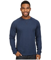 The North Face Long Sleeve Copperwood Crew Urban Navy Heather Men's Clothing Gray