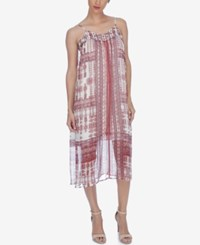 Lucky Brand Printed Shift Dress Natural Multi