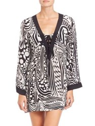 Shan Adele Lace Up Tunic Black White