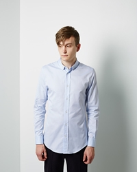 Maison Martin Margiela Line 14 Oxford Shirt Light Blue