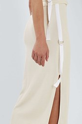 Boutique Ribbed Knit Skirt By Champagne
