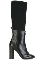 Diesel Layered Boots Black
