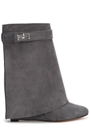 Givenchy Grey Fold Over Suede Boots