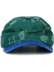 And Re Walker Distressed Two Tone Cap Green