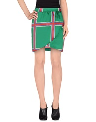 Beayukmui Knee Length Skirts Green
