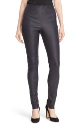 See By Chloe Women's Washed Lambskin Leather Pants Navy
