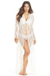 Jonquil 'Winter Bride' Lace Robe Ivory