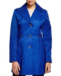 Via Spiga Pleated Trench Coat Positano Blue