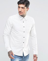 Another Influence Flecked Shirt White