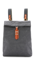Southern Field Industries Waxed Canvas Flip Backpack Charcoal