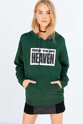 Silence And Noise See Ya In Heaven Hoodie Sweatshirt Green