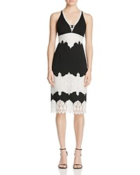 Karen Millen Lace Trim Dress 100 Bloomingdale's Exclusive Black