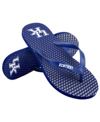 Forever Collectibles Kentucky Wildcats High End Flip Flops Blue