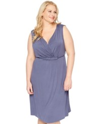 Motherhood Maternity Plus Size Nursing Nightgown Blue