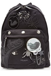 Marc Jacobs Wool Backpack With Patches And Embellishment Black