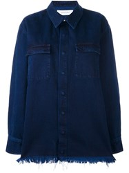 Marques Almeida Marques'almeida Denim Oversized Shirt Blue