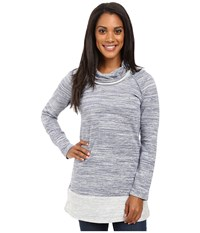 Aventura Clothing Brooklyn Tunic Blue Indigo Women's Long Sleeve Pullover