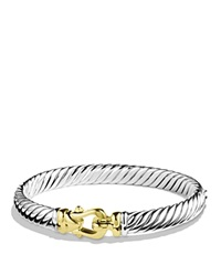 David Yurman Cable Buckle Bracelet In Gold Silver Yellow Gold