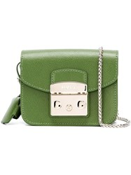 Furla Clasp Cross Body Bag Green