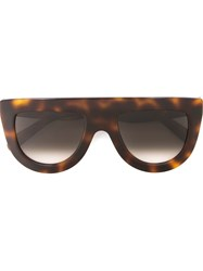 Celine Celine Visor Frame Sunglasses Brown