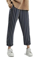 Topshop Women's Stripe Peg Trousers