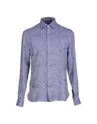 Galliano Shirts Shirts Men Sky Blue