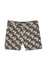 French Connection Tropical Parrot Canvas Shorts Black And Tropical