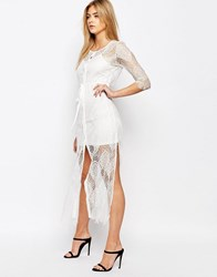 Goldie Karley Lace Dress With Slip Ivory White