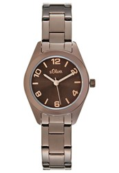 S.Oliver Watch Brown