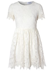 True Decadence Crochet Lace Skater Dress White