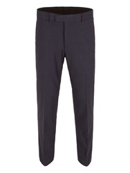 Limehaus Check Slim Fit Suit Trousers Navy