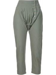 Ulla Johnson Cropped Trousers Green